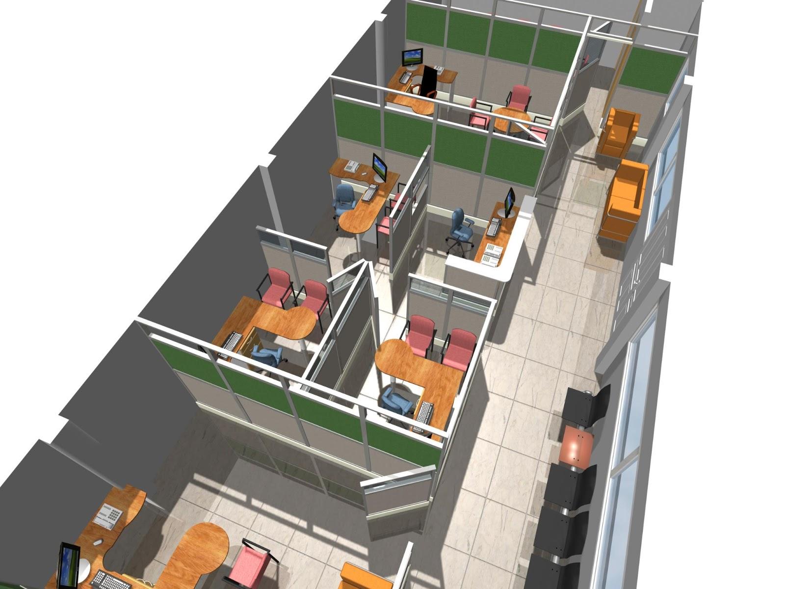 Dise os de oficinas dise o interiorismo construccion for Distribucion de oficinas modernas