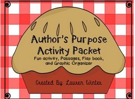 https://www.teacherspayteachers.com/Product/Authors-Purpose-Passages-Graphic-Organizer-and-Activities-999838