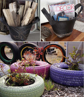 Recycle-Tire-Architecture Art Designs