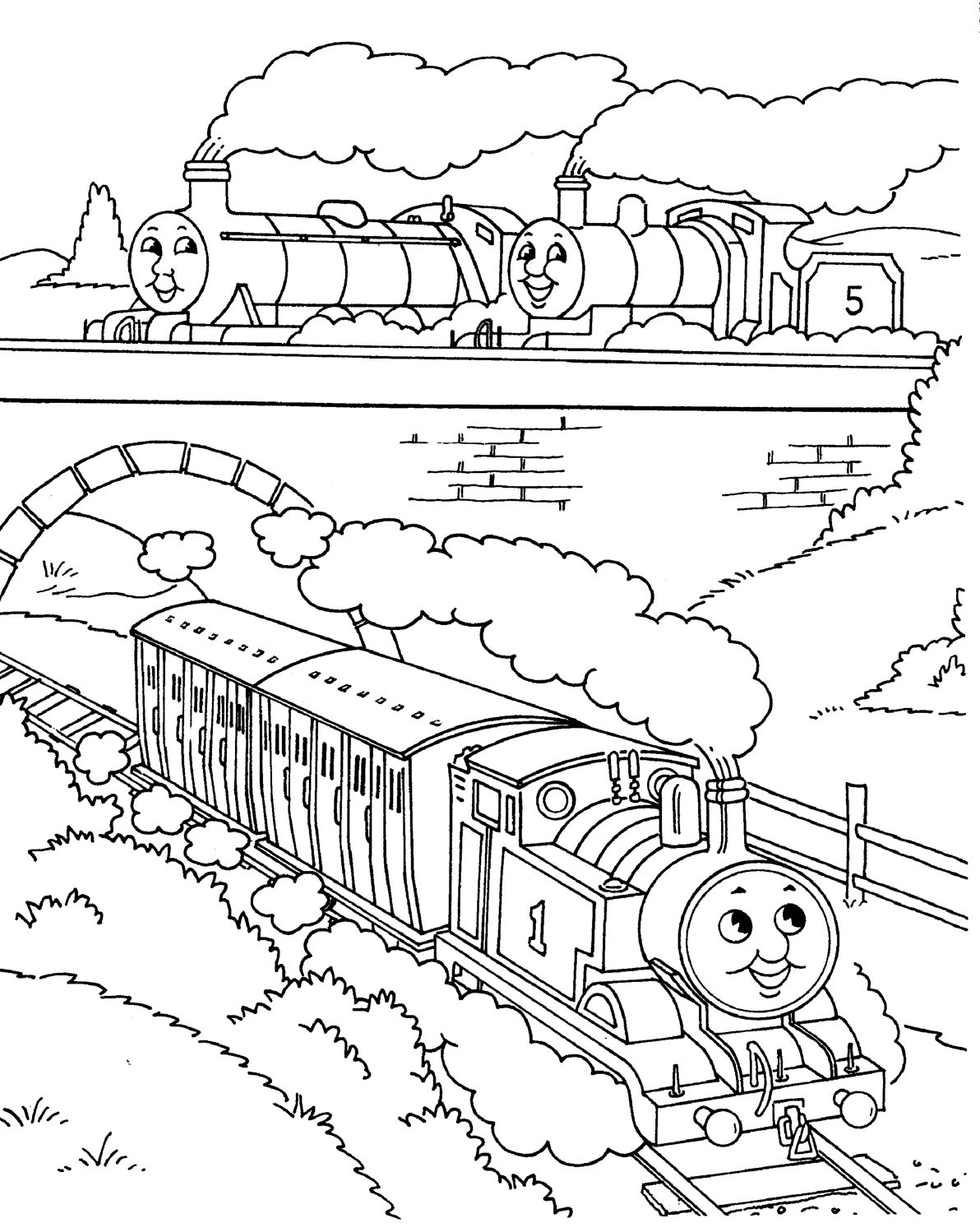 Thomas the train coloring pages coloring pages for Printable thomas the train coloring pages