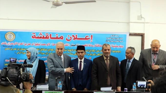 Lagi! Putra Lombok Raih Magister di Universitas Al-Azhar dengan Predikat Excelent