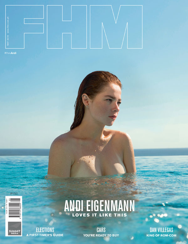 Andi Eigenmann appears in two covers of FHM Magazine May 2016 issue