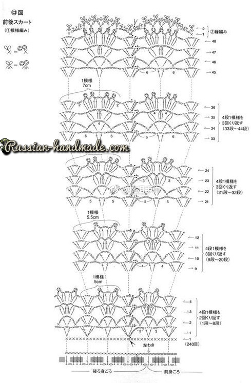 Схема вязания платья крючком ажурным узором (2)