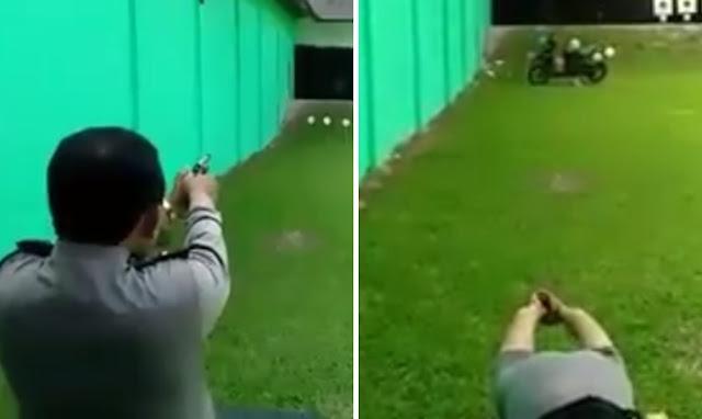 Video Kemampuan Polisi Menembak Ini Sangat Mengagumkan