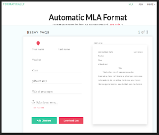 formatively provides you with an mla format template where you will add your data and follow