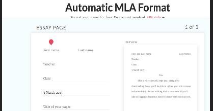 automatic mla format