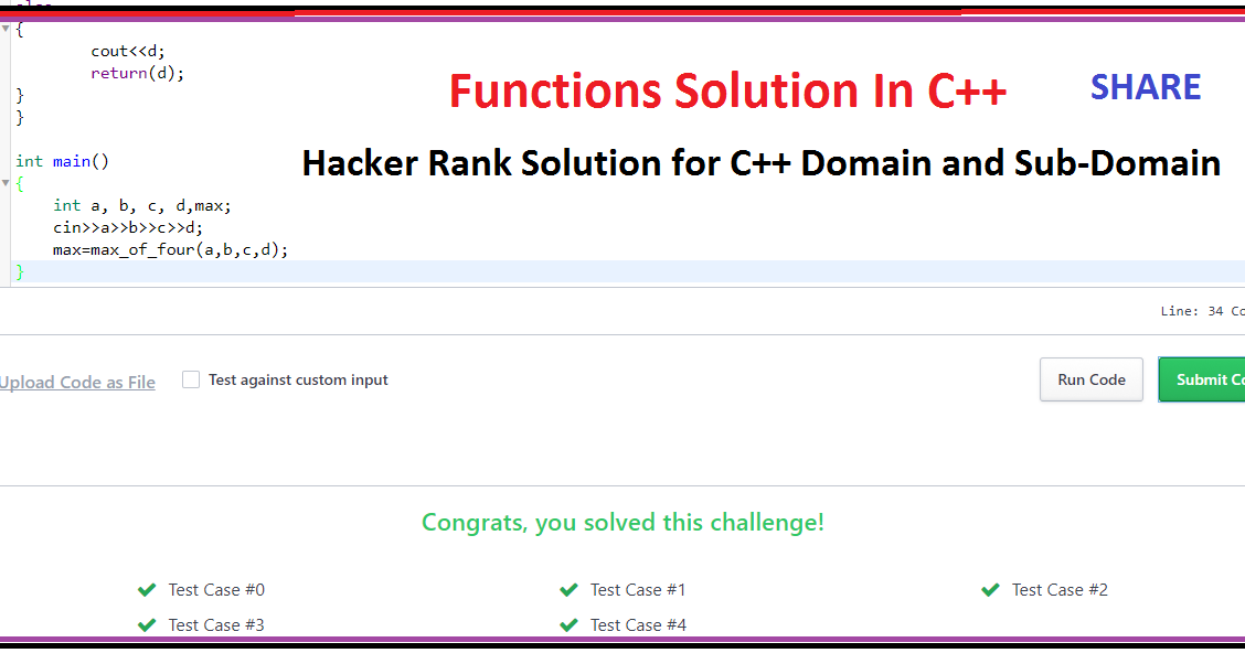 Functions Hackerrank Solution