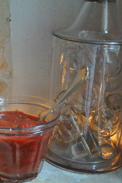 compote fraises ruhbarbe
