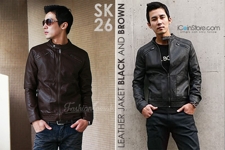 jaket kulit leathe jacket fashion cowok fashioncowok
