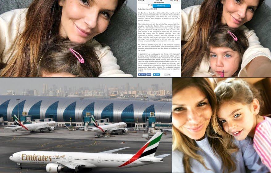 Arrestata a Dubai con la figlia per aver bevuto vino a bordo dell'aereo.