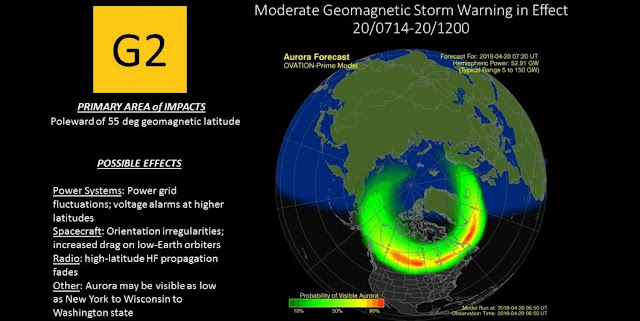 moderate geomagnetic storm hits earth