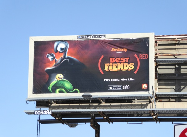 Best Fiends game Red billboard