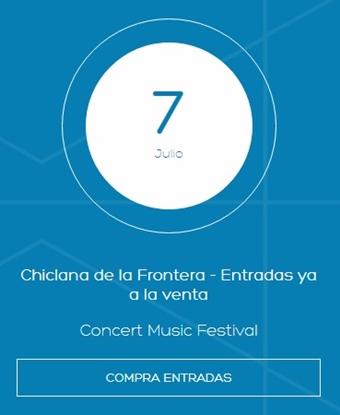 David Bisbal Tour 2018, Concert Music Festival Sancti Petri, compra entradas, venta entradas