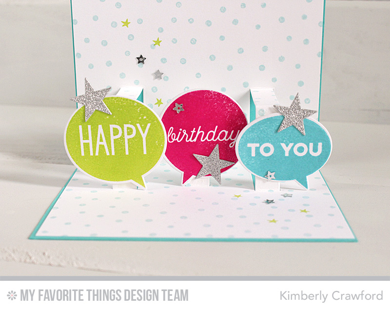 For The Love Of Paper Happy Birthday Speech Bubbles And Pop Up Card