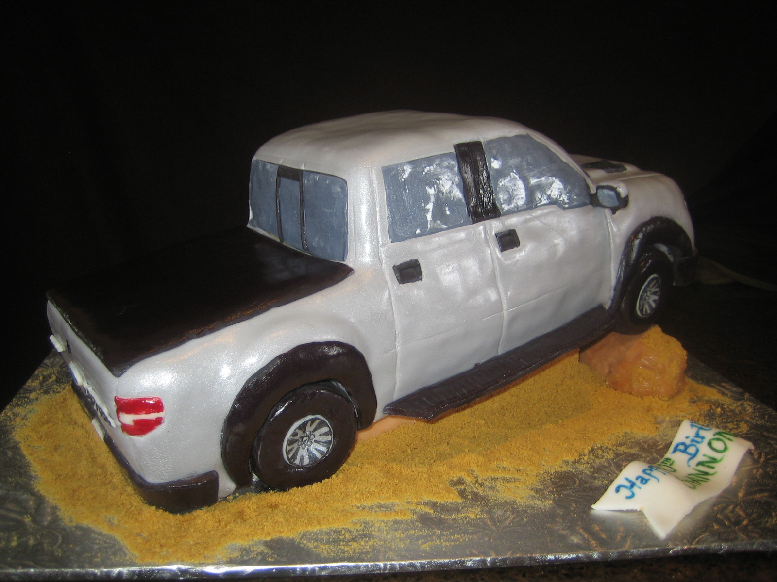 Raptor Truck Birthday Cake
