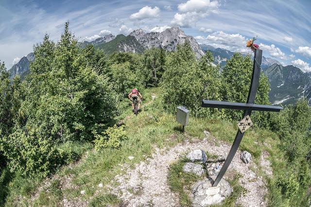 Abfahrt Trail Mountainbike Monte Monticello Tolmezzo Udine