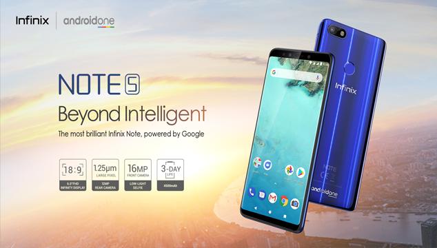 أعلنت شركة أنفنكس عن هاتف Infinix Note 5 بشاشة كبيرة و بطارية ضخمة  تدوم لمدة أطول