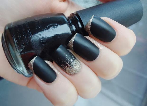 silvia lace nails black matte