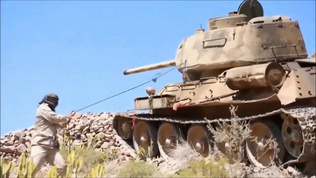 Phiến Quân Houthi Phá Hủy Loại Xe Tank T-34 Có Từ Thời Đệ Nhị Thế Chiến