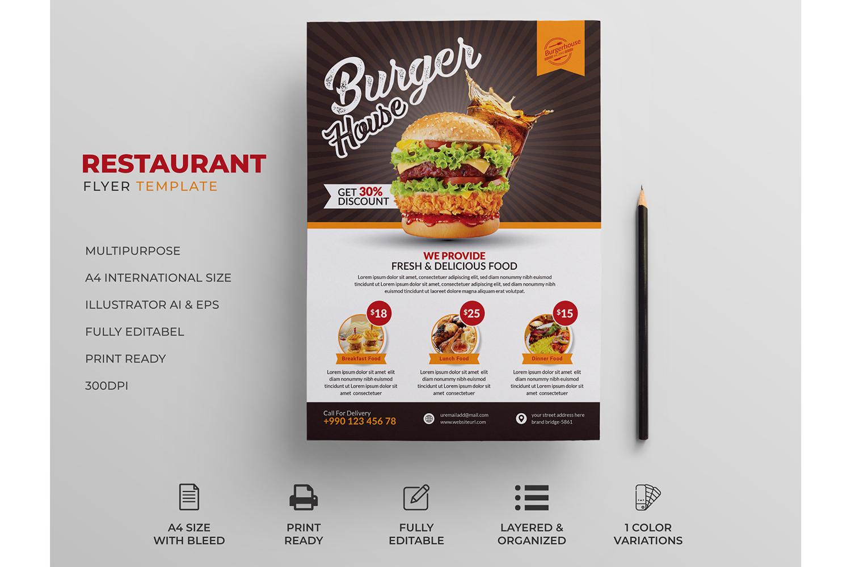 Restaurant Flyer | Burger Flyer | Food Flyer | Free Download