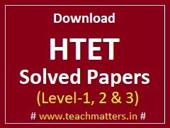 image : Download HTET Solved Papers - All Levels @ TeachMatters