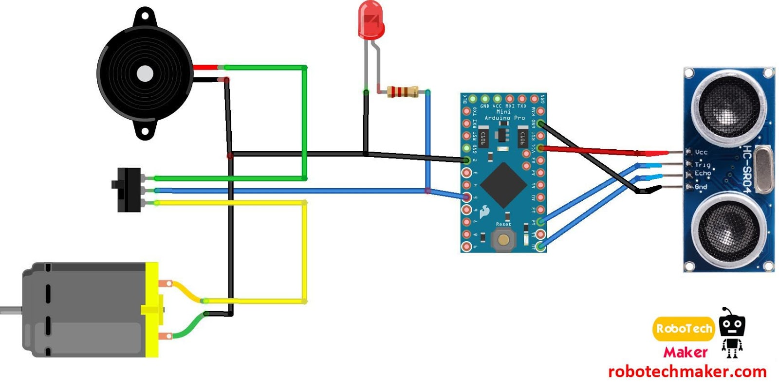 Robotech Maker Third Eye For The Blind Arduino Wiring Diagram Circuit