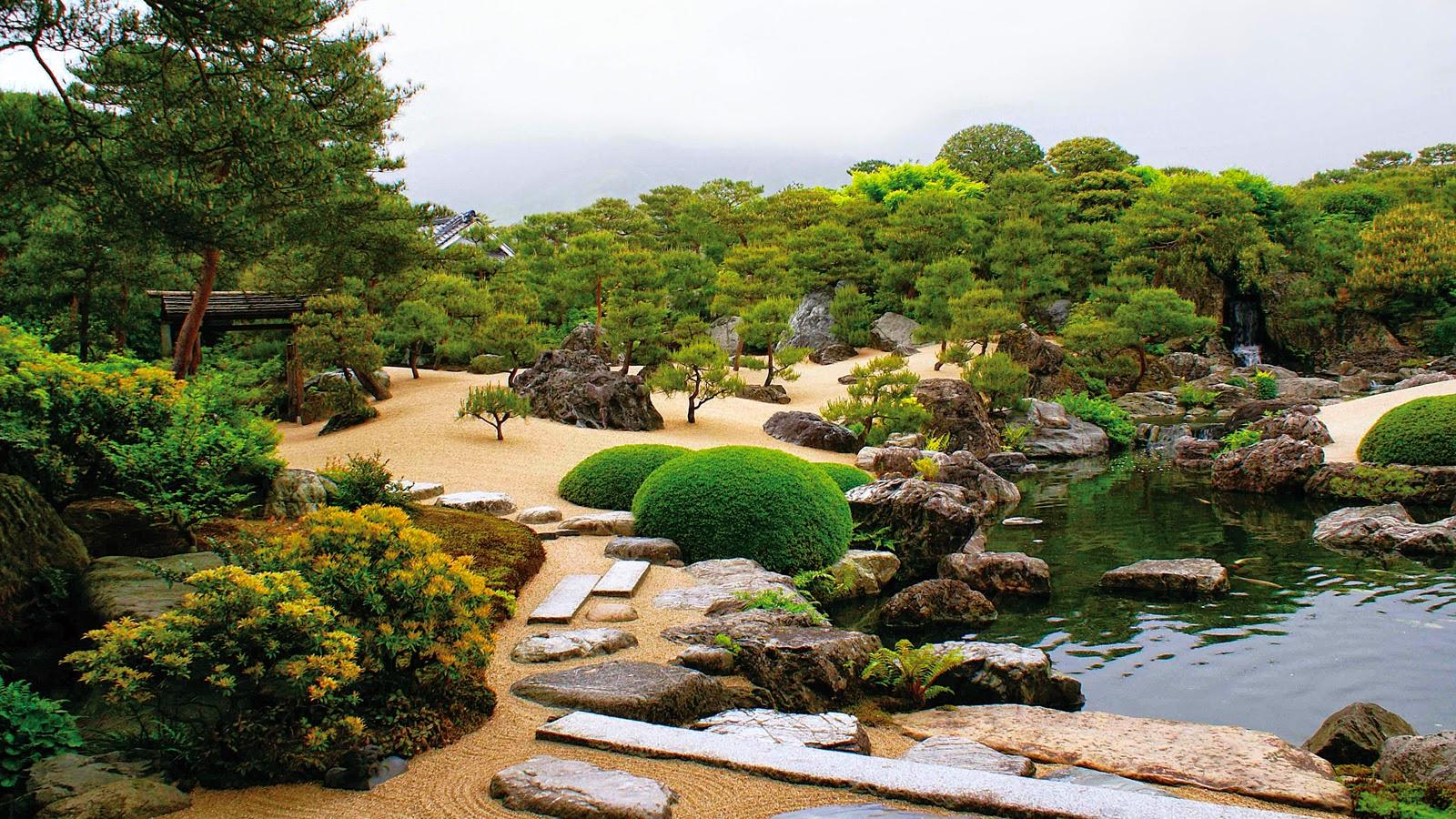korzen is in the garden adachi museum japan. Black Bedroom Furniture Sets. Home Design Ideas