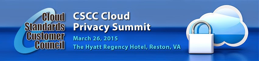 CSCC Cloud Privacy Summit – Reston, VA March 26th