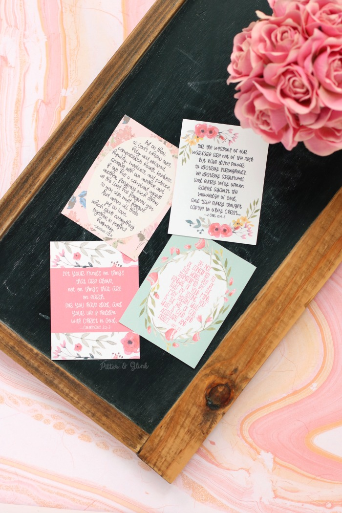 Free Floral Scripture Verse Printable Cards