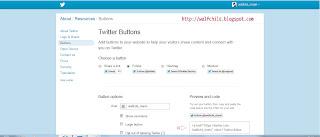 Membuat dan memasang tombol twitter di blog