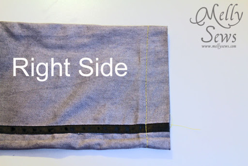 Step 1 - How to Sew a Blind Hem with your Sewing Machine - Melly Sews