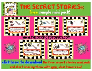 FREE Secret Stories® Phonics Secrets Poster Sampler
