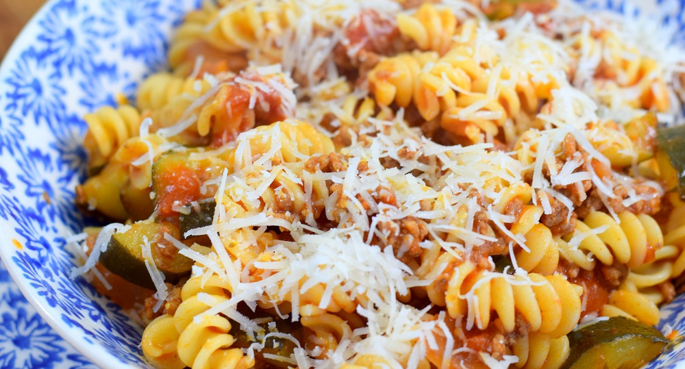 Pasta Bolognese With Parmigiano Reggiano Cheese