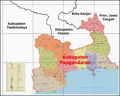Peta Kabupaten Pangandaran