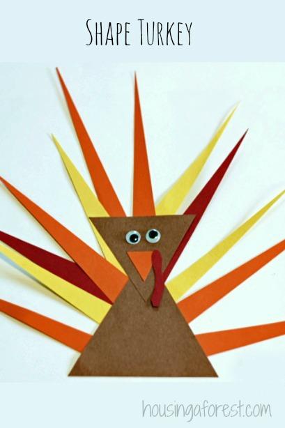 Turkey Shape Crafts Preschool