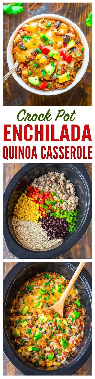 Super easy and DELICIOUS Crock Pot Mexican Casserole with quinoa, black beans, and chicken or turkey. Healthy comfort food, gluten free, and our whole family LOVES it! Recipe at wellplated.com | @wellplated - #Beans #Black #casserole #Chicken #comfort #Crock #delicious #EASY #family #Food #free #gluten #Healthy #loves #Mexican #Pot #Quinoa #recipe #super #turkey #wellplated #wellplatedcom