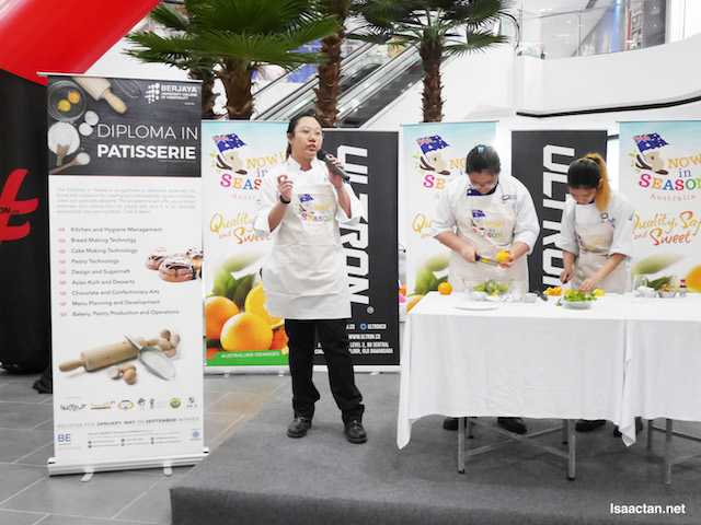 Cooking demonstration using the Australia Citrus