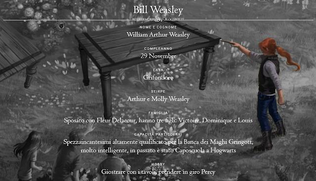 Scheda di Bill Weasley