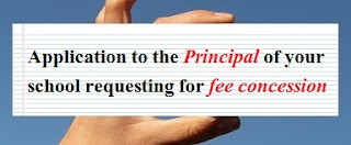 Application to Principal for fee concession