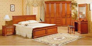 wood - set kamar bahan kayu jati kualitas