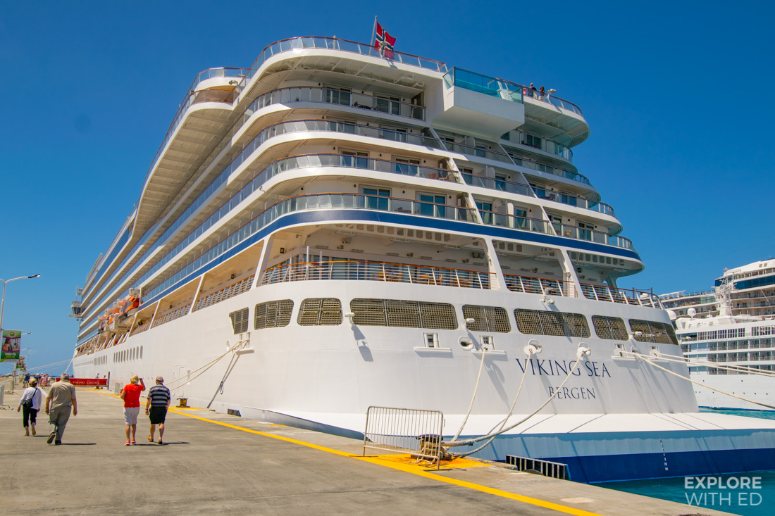 Viking Sea docked in Saint Marteen