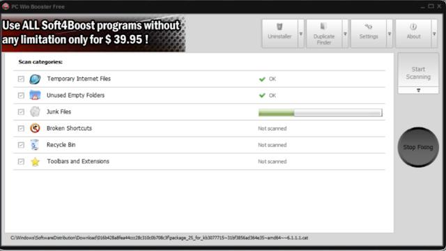 تحميل برنامج ازالة الملفات الغير هامة Soft4Boost PC Win Booster Free