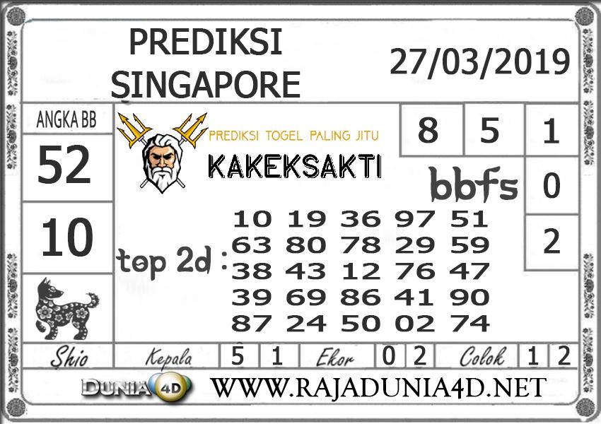 Prediksi Togel SINGAPORE DUNIA4D 27 MARET 2019