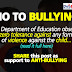 DepEd's Reminder against BULLYING