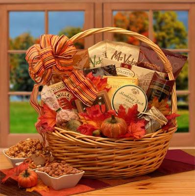 Kim's La Bella Baskets Fall Gift Baskets Shades of Fall Snack Gift Basket