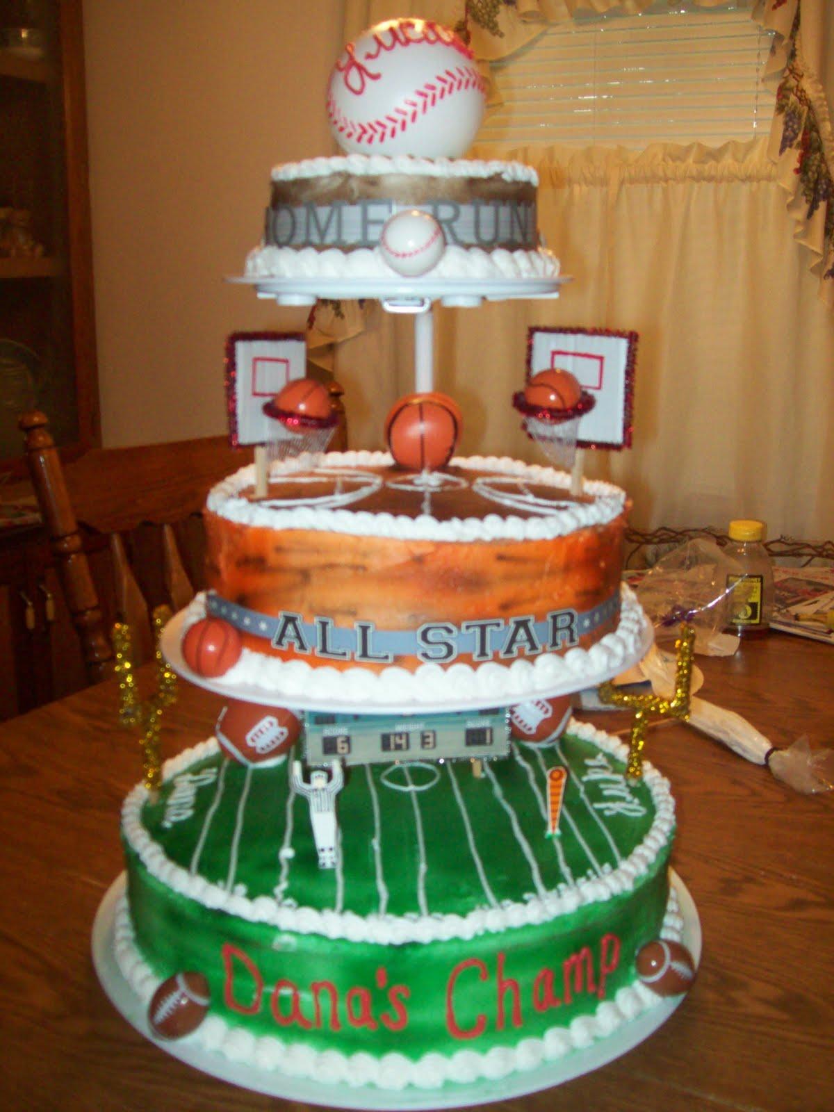 Crazy About Cakes Dana S Sports Baby Shower Cake Boy