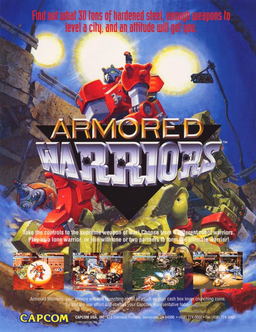 Armored Warriors+arcade+game+portable+retro+art+flyer
