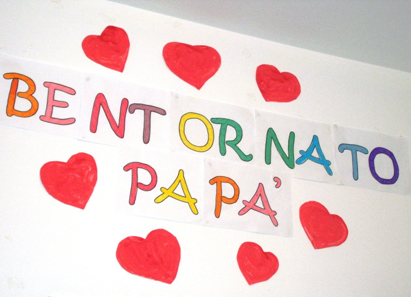 Estremamente Studiamando liberamente: Lavoretti per il papà: BENTORNATO A CASA! AL46