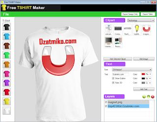 Aplikasi Untuk Men-Desain Gambar Sablon Kaos (Free TSHIRT Maker)