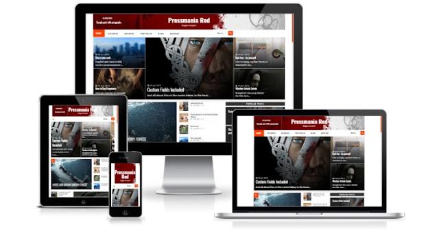 Pressmania шаблон для blogger